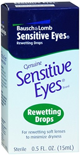 Bausch & Lomb Sensitive Eyes Rewetting Drops 0.50 oz (Pack of 9)