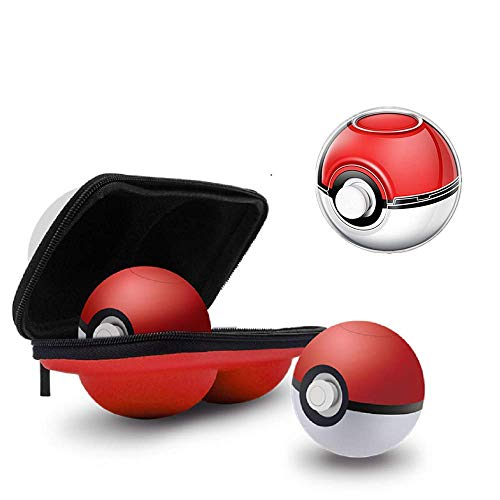 HAHAP Carrying Case and Clear case for Nintendo Switch Poke Ball Plus Controller, Hard Cover Case and Storage Bag - Pokémon Accessories Kits for Lets Go Pikachu Eevee Game (New) (C)