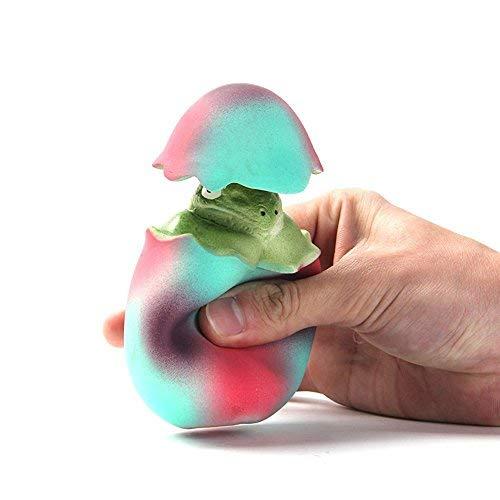 SmoonS Pet Toy Dinosaur Egg Squeak Puppy Toy Pop Up Egg animal inside Squeaker for Dog.(Dinosaur) -