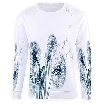 Men's Crewneck Xray Flower Pullover Sweater at Amazon Men