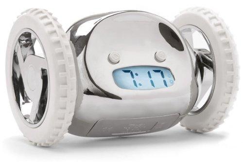 SUCK UK Clocky Chrome - The Runaway Alarm Clock by Suck UK