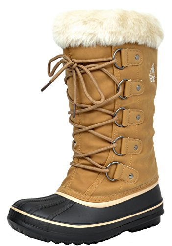 Scarponi Da Neve Invernali Alti In Pelliccia Faux Arctiv8 Donna Khaki-1