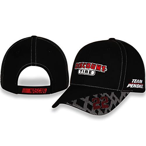 (NASCAR Tire #22 Team Penske Black Structured Standard Profile Adjustable Hat/Cap)