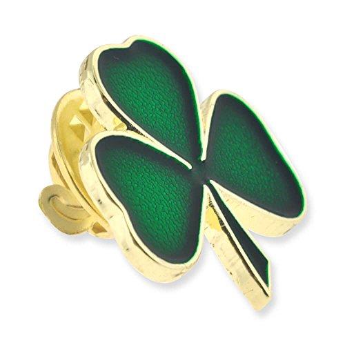 PinMart's Green Shamrock 3 Leaf Clover St. Patrick's Day Enamel Lapel Pin by PinMart (Image #1)