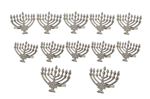 Handcrafted Hanukkah Metal Napkin Rings for Wedding Party Decoration Dinning Table Occasion Everyday Family Gatherings, Set of 12 - Silver - A Beautiful Emphasize to Your Dining Table décor -