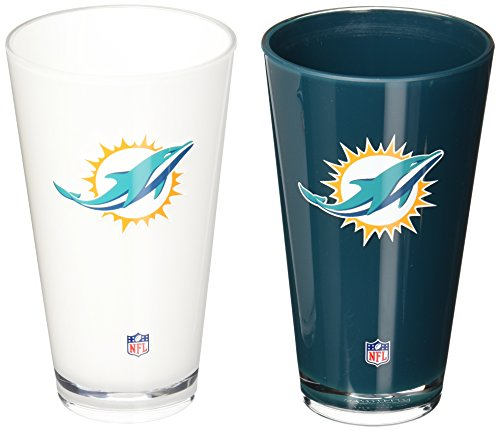NFL Miami Dolphins 20-Ounce Insulated Tumbler - 2 - Outlet Dolphin
