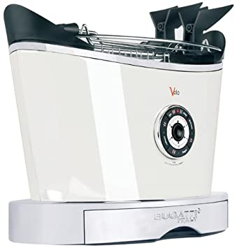 Bugatti Volo - Tostador (930W, 50/60 Hz, 230-240V, 32 cm, 20 cm, 30 cm) Acero inoxidable, Color blanco: Amazon.es: Hogar