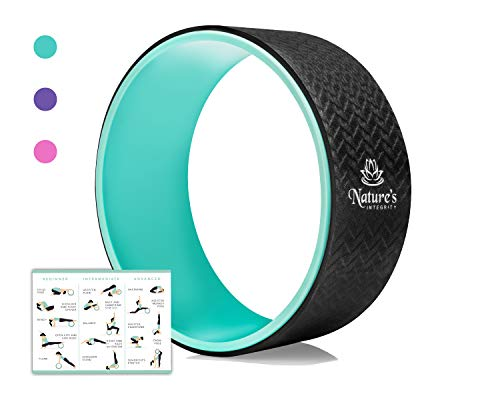 "Nature's Integrity Yoga Wheel 13"" - [Elite Series] - Strongest and Most Comfortable Dharma Yoga Roller for Stretching, Back Pain, and Backbends - Thick Padding, Eco-Friendly, Exercise Guide Included"