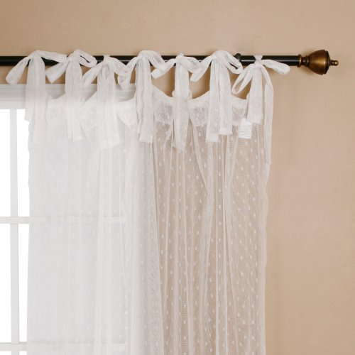 Lace Curtains Amazon: Best Panels Home Fashion Swiss Dot Lace Curtains