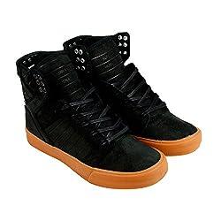 Supra Men's Skytop Black/Gum Sneaker Men's 4, Women's 5.5 D (M)