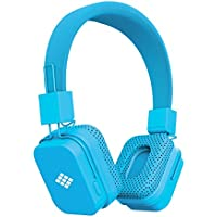 Polaroid Universal Bluetooth Wireless HD Headphones With Mic, Volume Control, 3.5mm Jack, Compatible with All Devices (Blue)