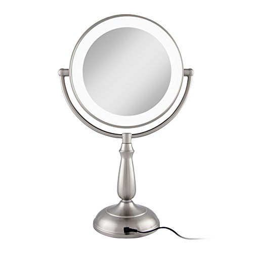 Zadro Satin Nickel Dual Sided Led Lighted Dimmable Touch Vanity Mirror, 12X / 1X Magnification by Zadro (Image #7)