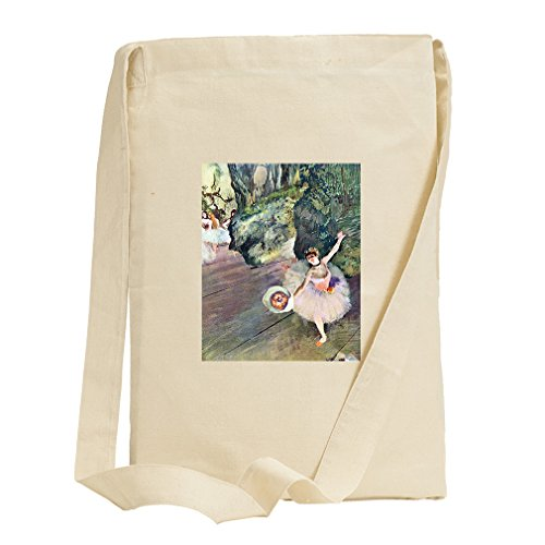 Dancer Bouquet Flowers Star Ballet (Degas) Canvas Sling Tote Bag (Bag Ballet Degas)