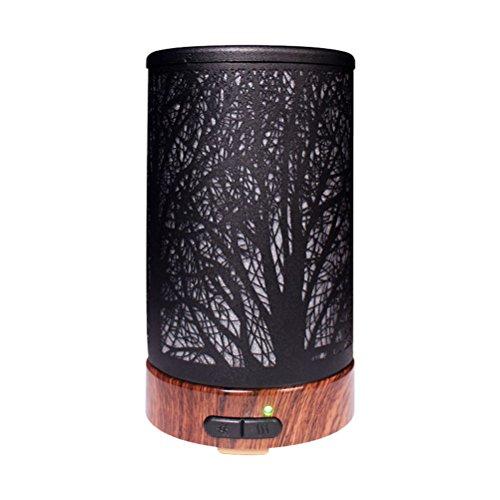 LEDMOMO 100 ml pequeño humidificador de aire con luz de noche aromaterapia difusor de aroma difusor de aceite árboles arte...
