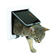 Trixie Pet Products 4-Way Locking Cat Door, White