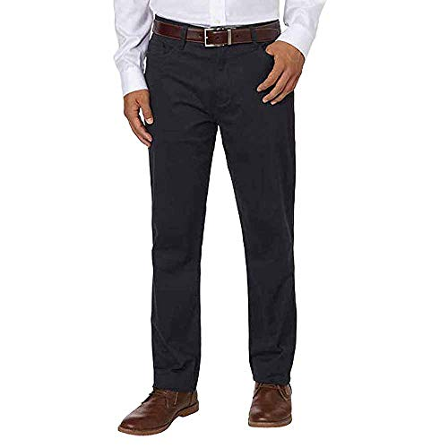 Forged Iron Button - English Laundry Men's 5 Pocket Straight Leg Textured Pant, Forged Iron, 38x34