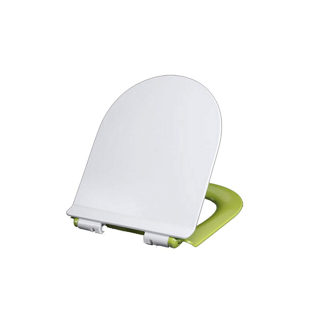 Green CZTC Toilet Seat U Shaped With Urea-formaldehyde Resin Adjustable Hinge Universal Descending Mute Thickening Easy To Install Toilet Lid Cover For Bathroom (color   Red)