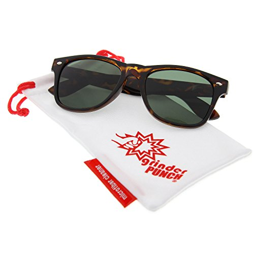 grinderPUNCH Polarized Sunglasses Great for Driving Tortoise Green - Tortoise Green The
