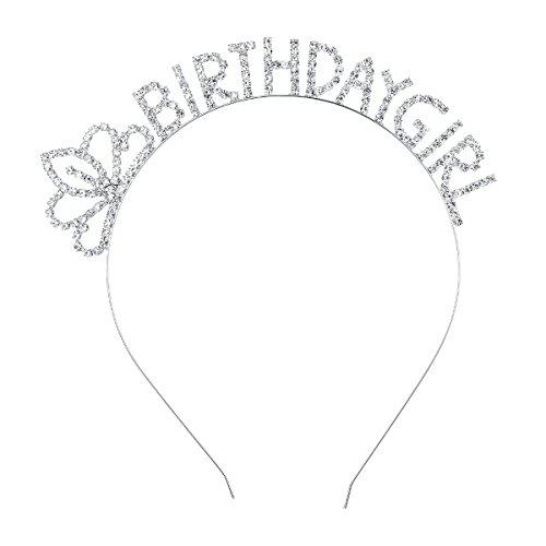 DcZeRong Kids Girl Birthday Tiara Headband Birthday Hair Band Headwear Birthday Hair Hoop Headpieces