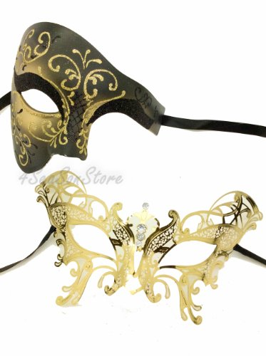 His & (His And Hers Masquerade Ball Masks)