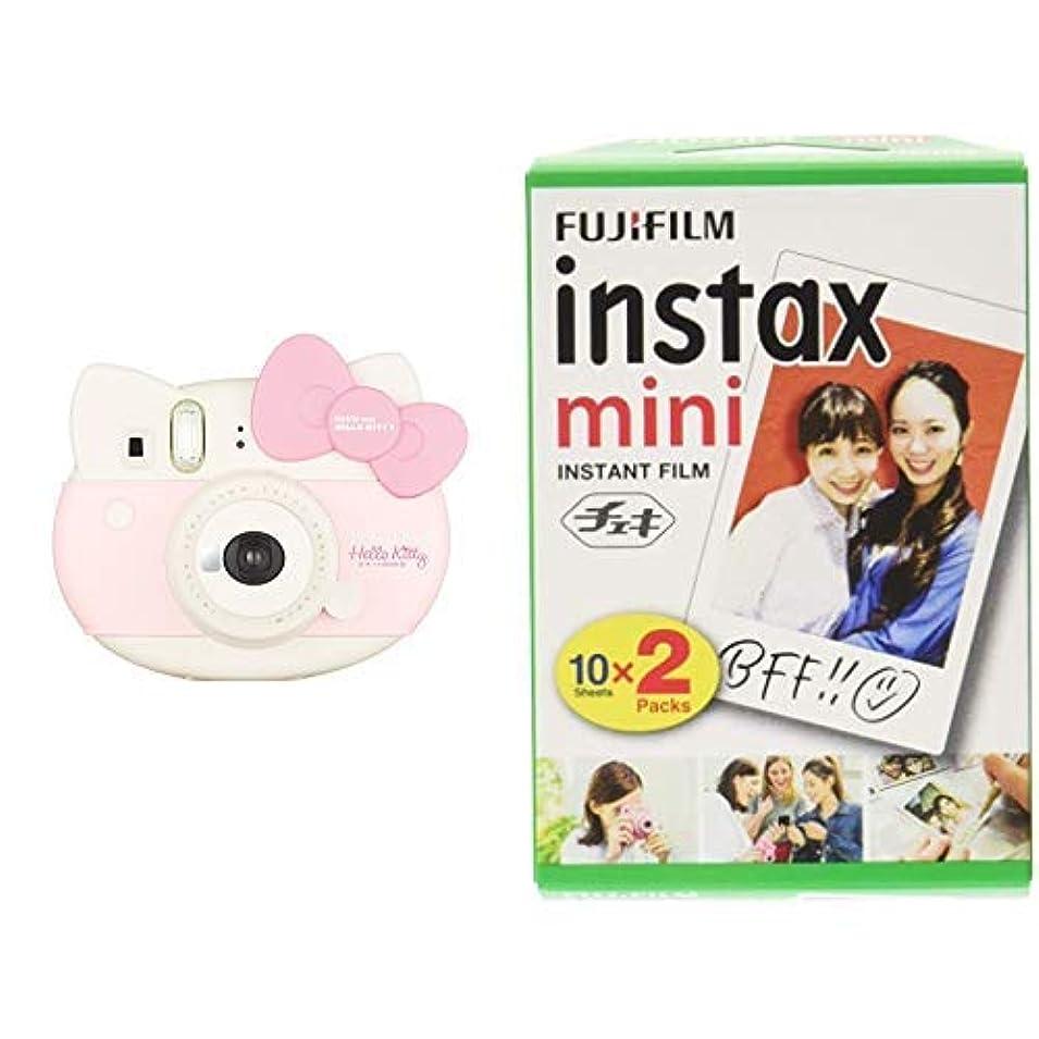 有毒なタイマー武装解除FUJIFILM インスタントカメラ instax mini 8+(プラス) ココア&フイルム100枚セット