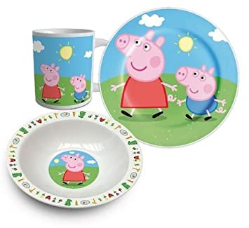Peppa Pig Three Piece Ceramic Lunch And Dinner Set By BestTrend  sc 1 st  Amazon.com & Amazon.com | Peppa Pig Three Piece Ceramic Lunch And Dinner Set By ...