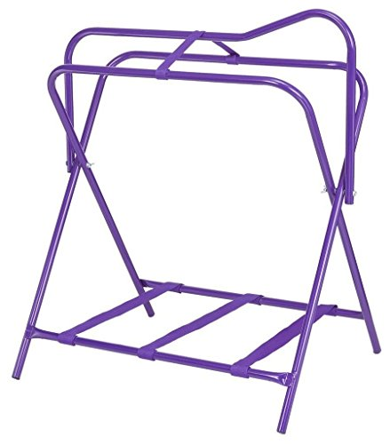 Tough-1 Folding Floor Saddle Rack w/Web Bottom