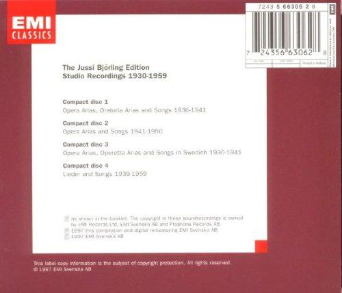 Jussi Bjorling Edition (Studio Recordings, 1930-1959)