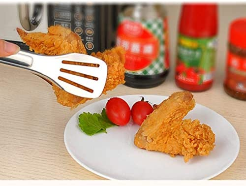 Outils de cuisine créative Pinces à rôtir BBQ en acier inoxydable Pinces à rôtir BBQ Pelles à steak de pelle à spatule for aliments Gadgets Outils de cuisine