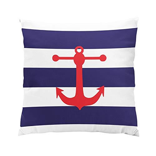 - Suklly Modern Nautical Navy Red Hidden Zipper Home Sofa Decorative Throw Pillow Cover Cushion Case 26x26 Inch European Square Two Sides Design Printed Pillowcase