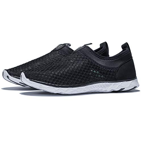 KENSBUY Men's Summer Mesh Shoes,Outdoor Beach Aqua Shoes,Running,Walking EU41 Black by KENSBUY (Image #7)