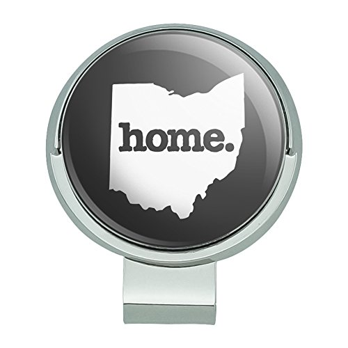 GRAPHICS & MORE Ohio OH Home State Solid Dark Gray Grey Officially Licensed Golf Hat Clip with Magnetic Ball Marker