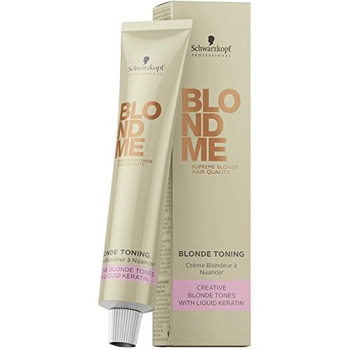 Schwarzkopf Professional Blond Me Blonde Toning - Ice - 2.02 oz (Best Hair Toner For Bleached Hair)