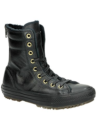Chuck Star All Boots black leather Rise Hi Converse Taylor black ZBtqdnw