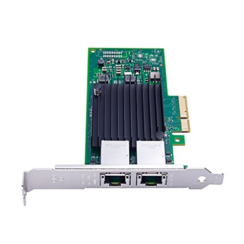 For Intel X550-T2, 10GbE Converged Network Adapter(NIC), X550 Chipset, PCI-E X4, Dual RJ45 Copper Port CNA, ipolex by ipolex