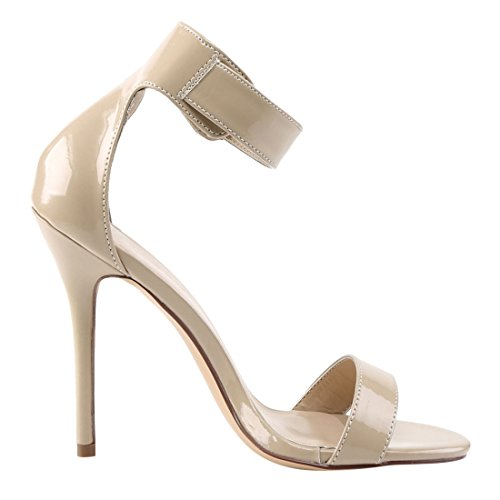 Pleaser Amuse-10, Sandales à Bride Femme Cream Pat