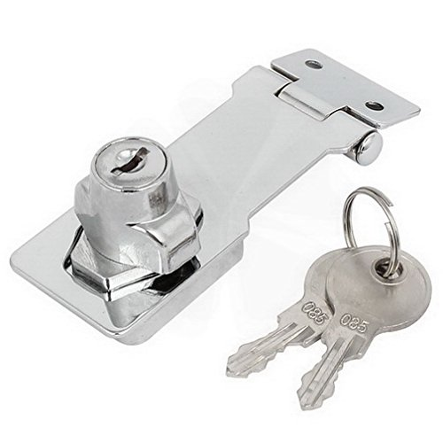 Latches 95mmx32mmx30mm Metal Screw Fixing Safety Guard Keyed Hasp Latch Lock Silver Tone By Fuxell