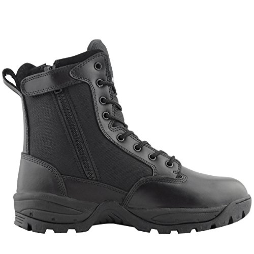 Maelstrom Men's TAC FORCE 8 Inch Military Tactical Duty Work Boot with Zipper, Black, 14 W US