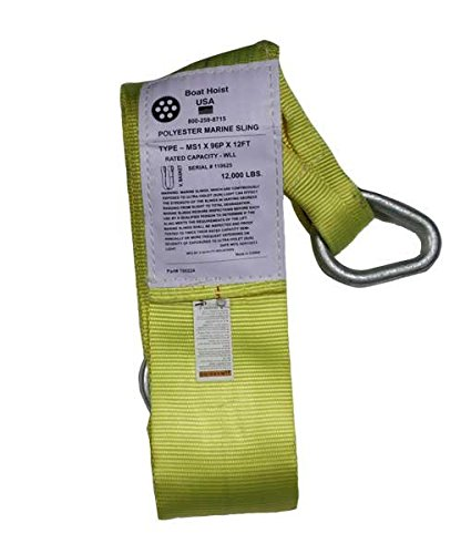 6″ Wide Yellow Boat Lift Sling - 14 ft.