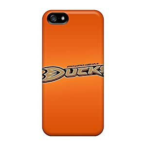 SashaankLobo Snap On Hard Cases Covers Anaheim Ducks Protector For Iphone 5/5s