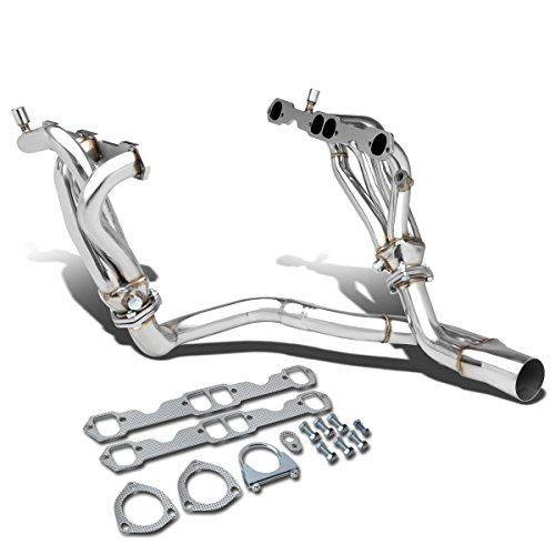 (For Chevy Camaro/Pontiac Firebird 5.7L V8 2-PC 8-2-1 Stainless Steel Exhaust Header/Manifold +)