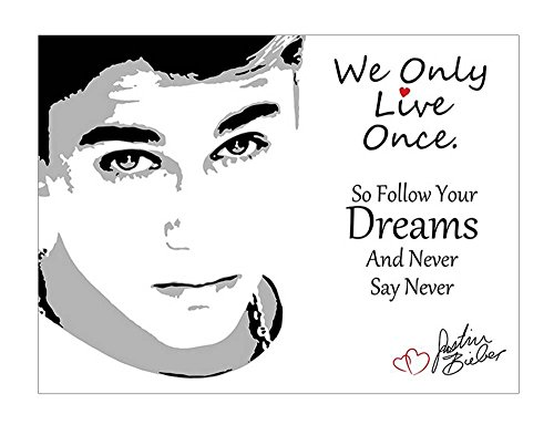 Alonline Art - Justin Bieber #4 Never Say Never by Alonline DSN | print on high quality fine art photo paper poster (Rolled) | 21