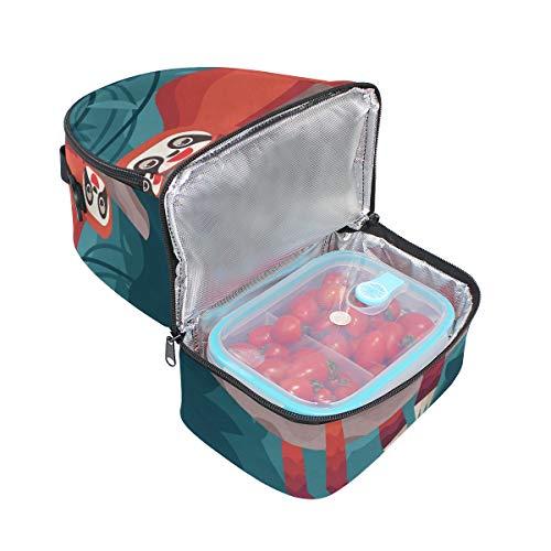 réglable pour animé Tote bandoulière Folpply avec mignon Dessin lunch l'école isotherme paresseux à Boîte Cooler Pincnic Sac à 6qRCfnwOqx