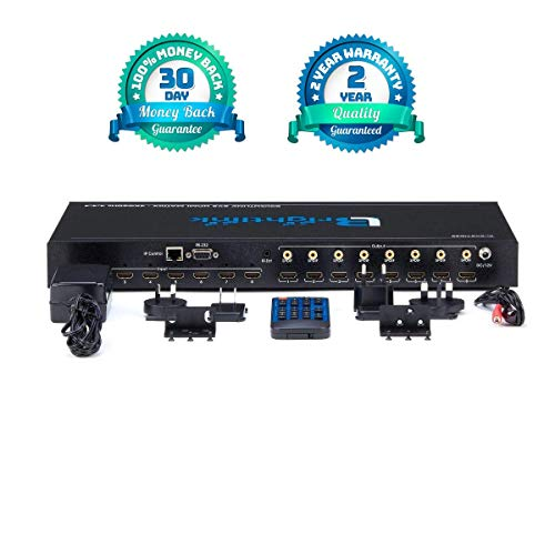 Brightlink Matrix Switcher Audio Video Distribution Systems (Brightlink 8x8 HDMI AV Matrix HDMI 2.0 - Support 4K@60Hz Resolutions YUV4:4:4 Support HDR10 HDCP2.2 18Gbps SPDIF Audio Out - Web Control (Video Distribution Hdmi)
