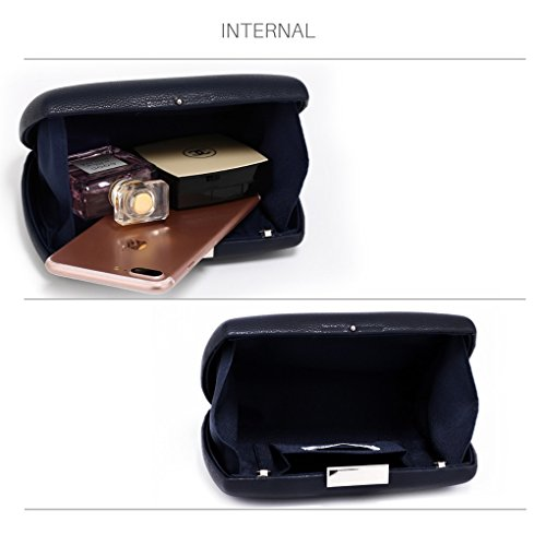 Party NAVY CLUTCH Dinner For HARD Women's Case Night Purse Evening Out Handbags Clutch Hard LeahWard Wedding CASE 7PqaOn