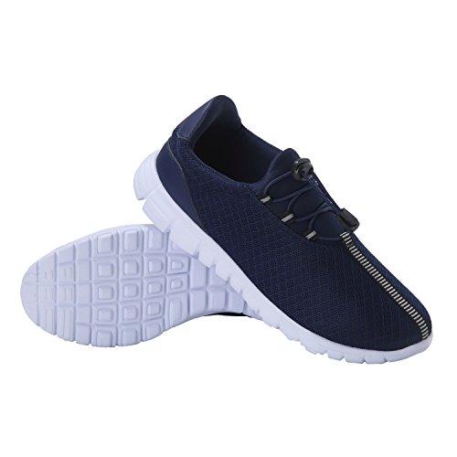 Feetmat Herren Laufschuhe Leichte Atmungsaktive Mesh Athletic Sports Sneakers Blau