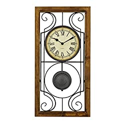 SCJS Roman Wall Clock/Wrought Iron Creative Pendulum Clock/Mute No Ticking/Easy to Read, Suitable for Living Room, Decoration, Gift (30 × 61cm)