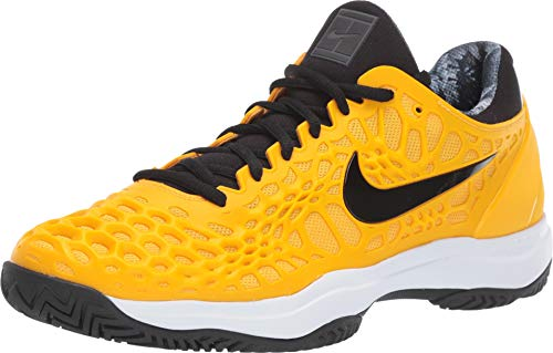 Nike Men's Zoom Cage 3 HC (13 D US, University Gold/Black/White/Volt Glow) (Mens Tennis Shoes Yellow)
