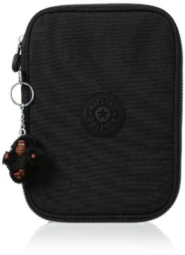 Kipling 100 Pen Case, Black, One Size (Pencil Cases Small)