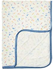 Simply Life - Hypoallergenic Baby Bamboo Blanket [Music, Blue], 75cm x 100cm, One Size